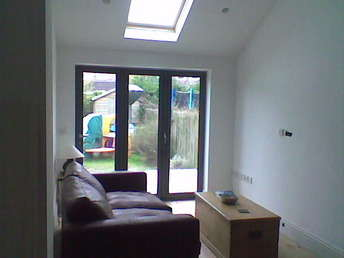 Inside view of living room extension