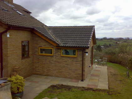 Garden room extension in Trefonen