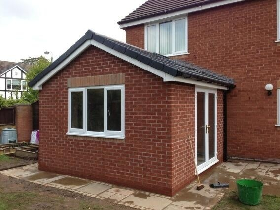 Living room extension in Great Sutton