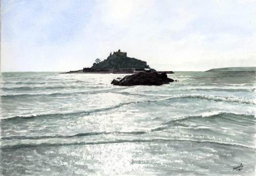 Incoming Tide, St Michael's Mount