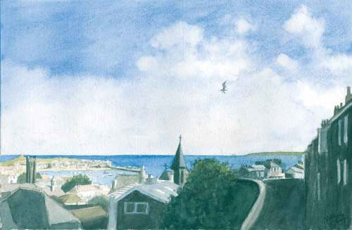 View over St Ives