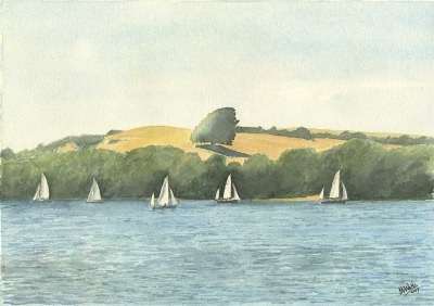 Yawls off Snapes Point Salcombe