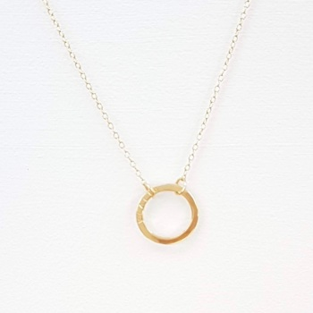 Small Gold Halo Necklace