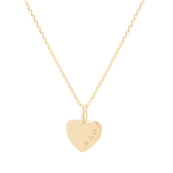Teeny Tiny Personalised Gold Heart Necklace