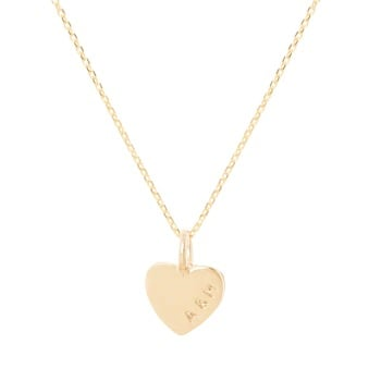 Teeny Tiny Gold Heart Necklace