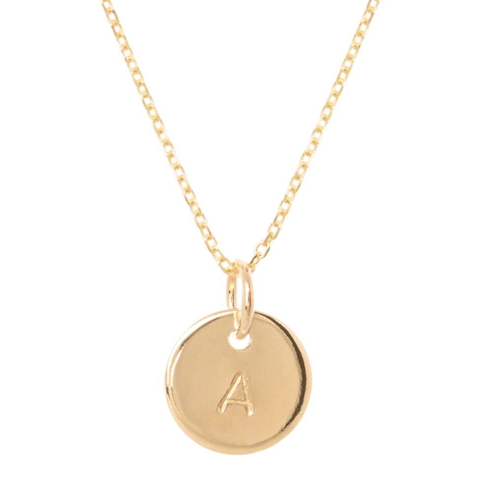 Teeny Tiny Gold Initial Necklace