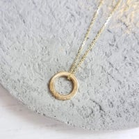 Teeny Tiny Gold Circle Necklace