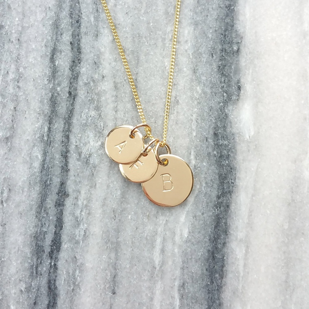 Gold Initial Family Necklace