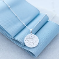 Wanderer Recycled Sterling Silver Medallion Necklace