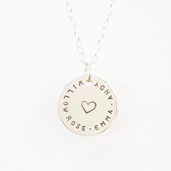 Silver Love Coin Pendant