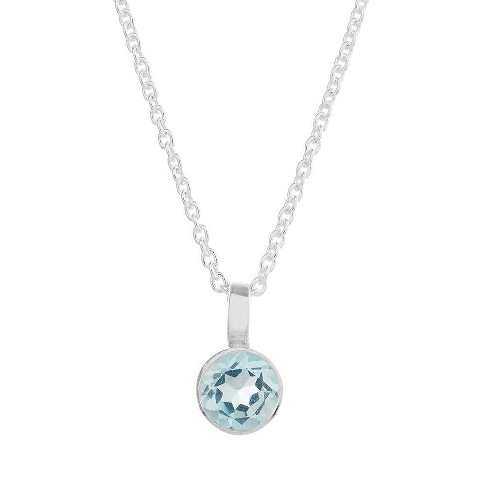 Solo Sky Blue Topaz Necklace