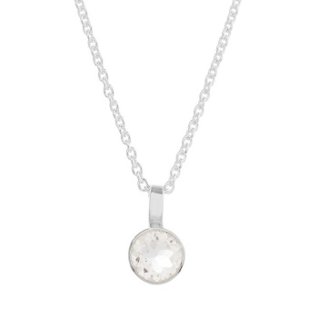 Solo White Topaz Necklace