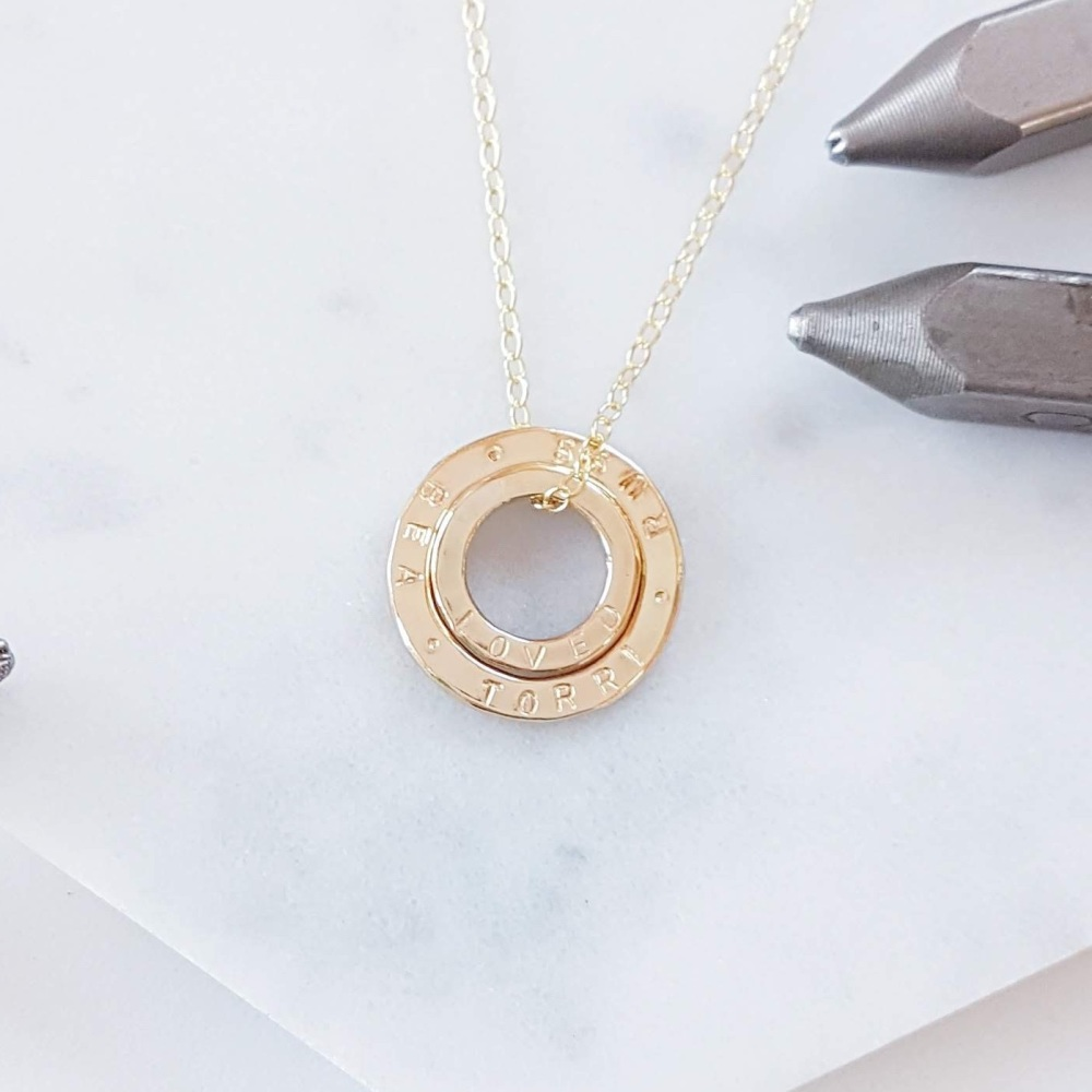 Gold Family Circles Necklace