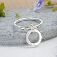 Personalised Circle Pendant Ring