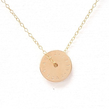 Gold Wheel Necklace