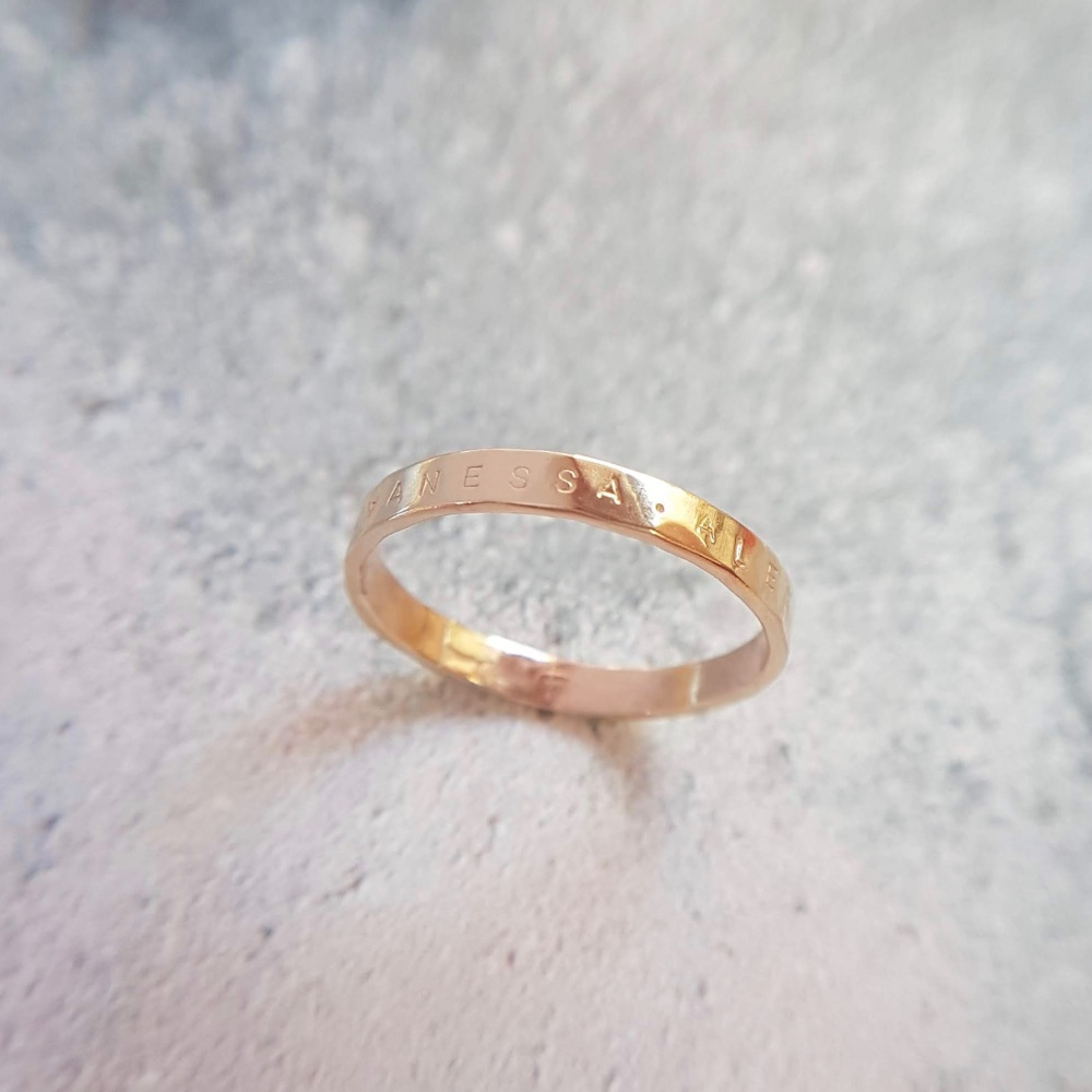 Personalised Gold Ring