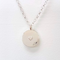All the Love Silver Heart Necklace