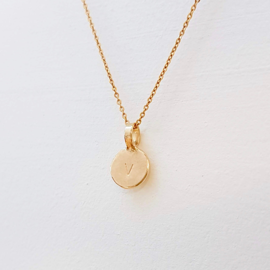 Sunshine Tiny 9ct Gold Initial necklace