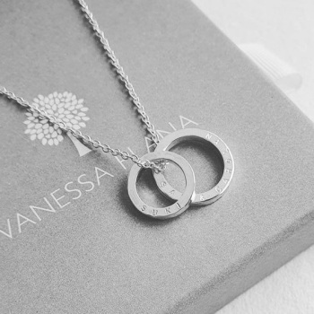 Personalised Minimalist Silver Family Circle Necklace