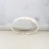 Classic Silver Hammered Ring