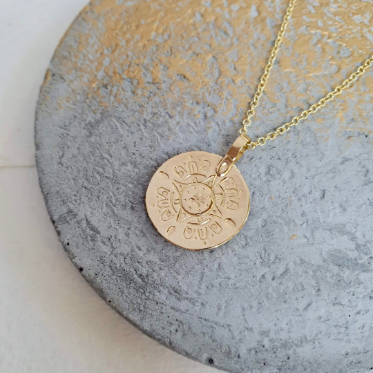 Wanderer 9ct Recycled Gold Medallion Necklace
