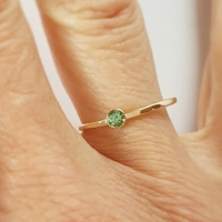 9ct Recycled Gold Tourmaline Solitaire Stacking Ring