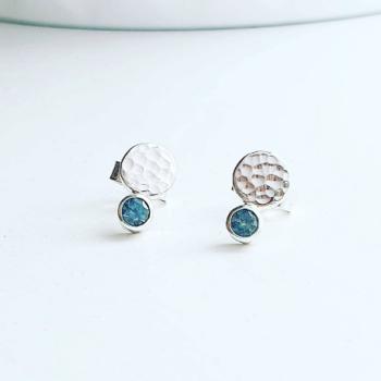 Cool Blue Montana Sapphire Stud Earrings