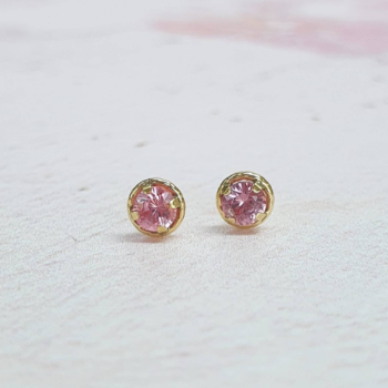 Ethical Pink Sapphire Stud Earrings