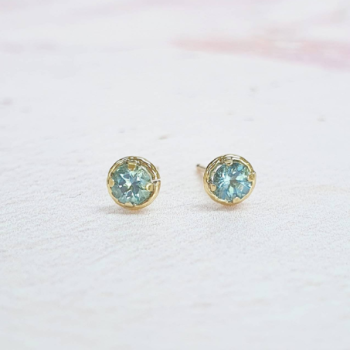 Ethical Aquamarine Stud Earrings