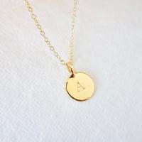 Sunshine Gold Disc Necklace
