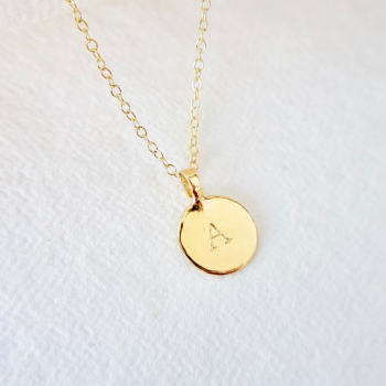 Sunshine Gold Disc Necklace