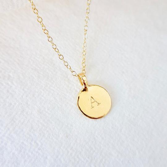 Sunshine Gold Personalised Disc Necklace