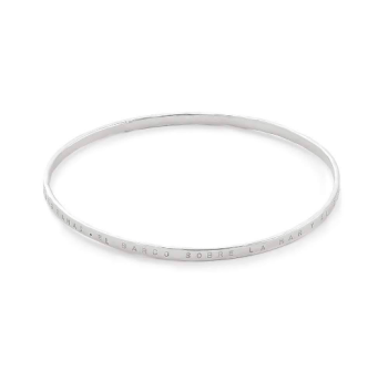 Delicate Silver Stacking Bangle