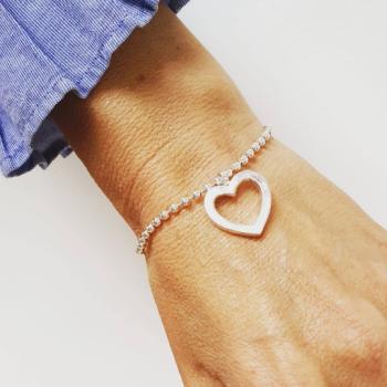 Open Heart Love Token Bracelet