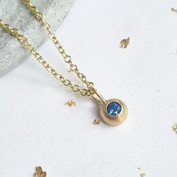 Blue Sapphire Dewdrop Necklace