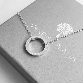 Modern Silver Halo Necklace