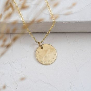 Helios Personalised Gold Necklace
