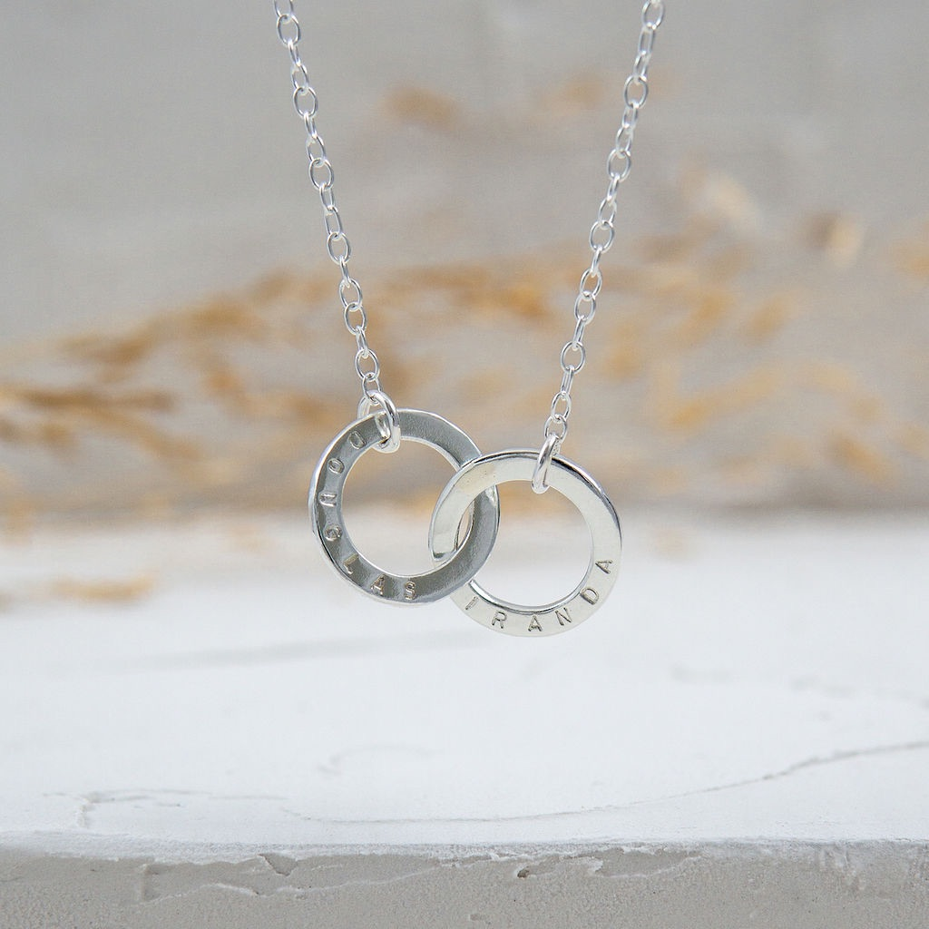 Linked by Love Silver Necklace