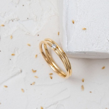 Ethical Diamond Duo Ring