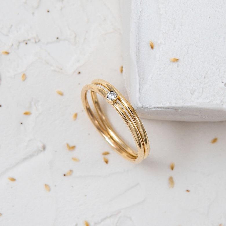 Whisper Ethical Diamond Duo Ring