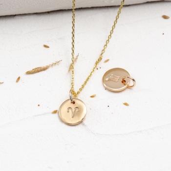 Teeny Tiny Gold Zodiac Necklace