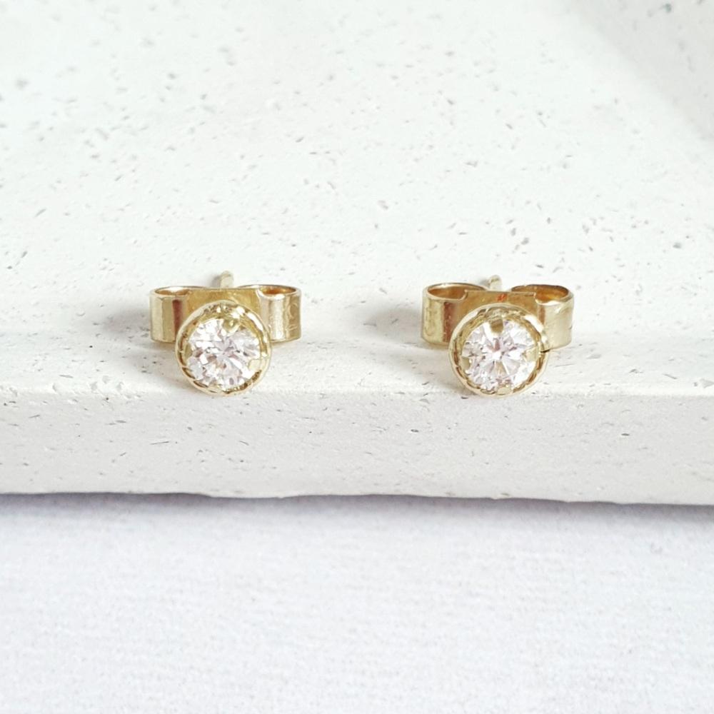 Ethical Diamond Stud Earrings