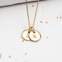 Teeny Tiny Gold Initial Necklace