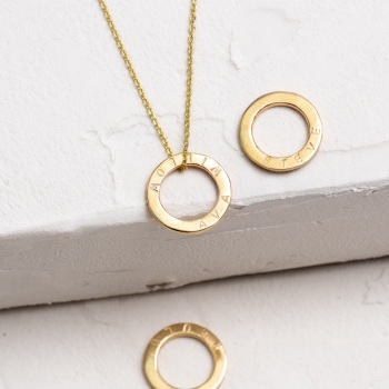 Classic Teeny Tiny Gold Circle Necklace
