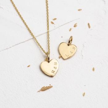 Teeny Tiny Gold Heart Necklace