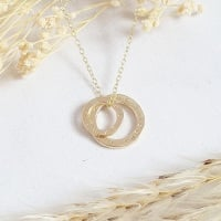 Classic Gold Family Circles Necklace