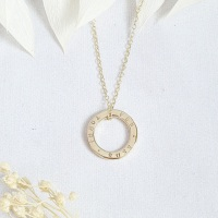 Classic Gold Circle Necklace