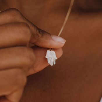 Gold Palm Necklace