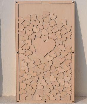 Drop Top Wooden Laser Cut Guest Book - JUMBO