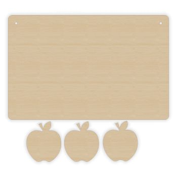 Weight Loss Plaque - 3 Apples - 0230
